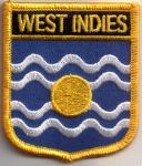 West Indies Embroidered Flag Patch, style 07.